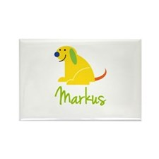 Markus Loves Puppies Rectangle Magnet
