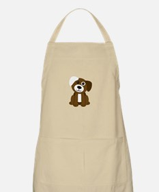 Brown Puppy Apron