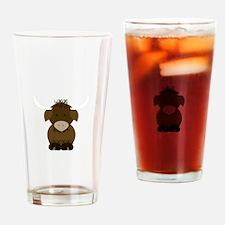 Brown Yak Drinking Glass