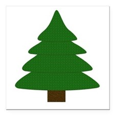 "Tree Square Car Magnet 3"" x 3"""