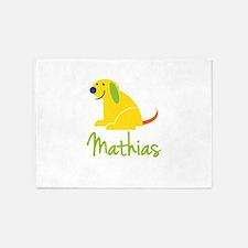 Mathias Loves Puppies 5'x7'Area Rug