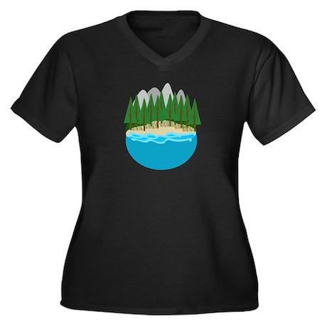 Lake Plus Size T-Shirt