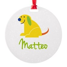 Matteo Loves Puppies Ornament