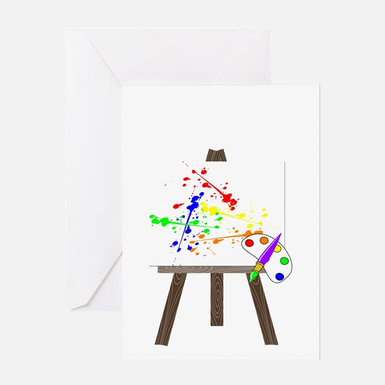 Artist Easel Greeting Card