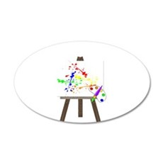 Artist Easel Wall Decal