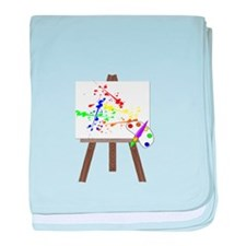 Artist Easel baby blanket