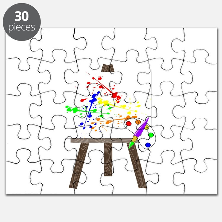 Artist Easel Puzzle
