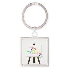Artist Easel Keychains