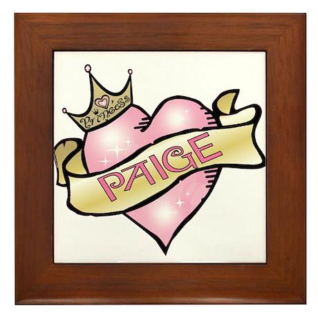 Sweetheart Paige Custom Princess Framed Tile