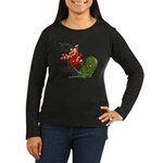 Anime Style Holiday Long Sleeved Woman's T
