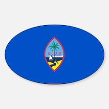 GUAM FLAG Rectangle Decal