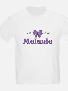 Purple Butterfly - Melanie Kids T-Shirt