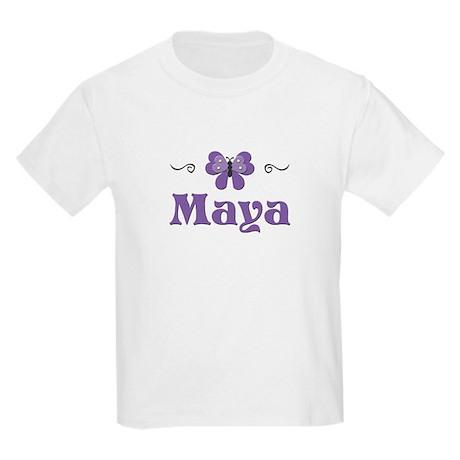 Purple Butterfly - Maya Kids T-Shirt