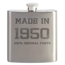 MADE IN 1950 100 PERCENT ORIGINAL PARTS Flask