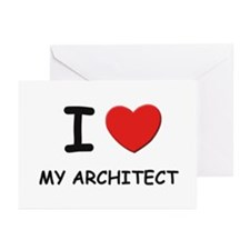 I love architects Greeting Cards (Pk of 10)