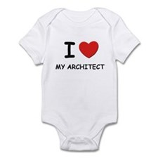 I love architects Infant Bodysuit