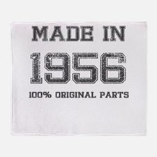 MADE IN 1956 100 PERCENT ORIGINAL PARTS Throw Blan