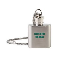 SLEEP IS FOR THE WEAK Flask Necklace