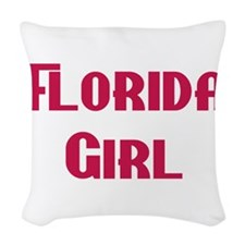 Florida girl Woven Throw Pillow