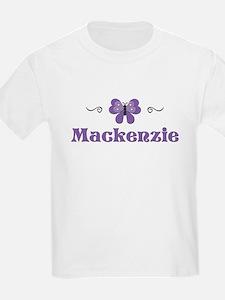 Purple Butterfly - Mackenzie Kids T-Shirt