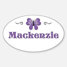 Purple Butterfly - Mackenzie Oval Decal