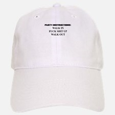 PARTY INSTRUCTIONS Baseball Hat