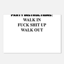 PARTY INSTRUCTIONS Postcards (Package of 8)