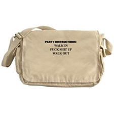 PARTY INSTRUCTIONS Messenger Bag