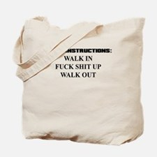 PARTY INSTRUCTIONS Tote Bag