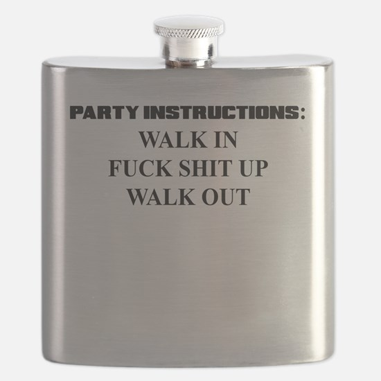 PARTY INSTRUCTIONS Flask