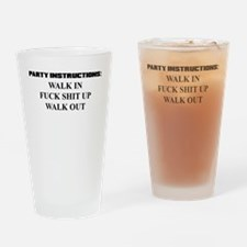 PARTY INSTRUCTIONS Drinking Glass