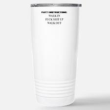 PARTY INSTRUCTIONS Travel Mug