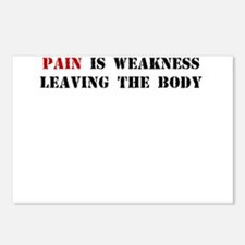 PAIN IS WEAKNESS LEAVING THE BODY Postcards (Packa