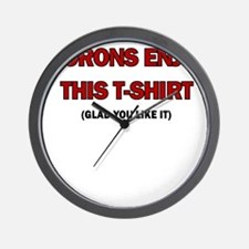 MORONS ENJOY THIS TSHIRT Wall Clock