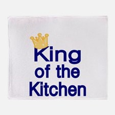 King of the Kitchen Throw Blanket