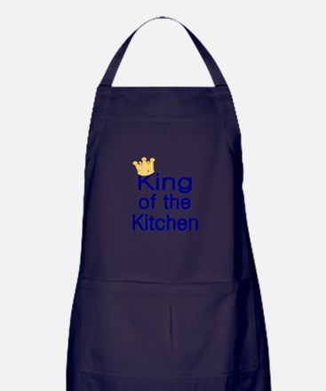 King of the Kitchen Apron (dark)