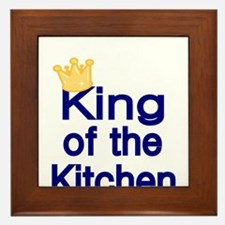 King of the Kitchen Framed Tile