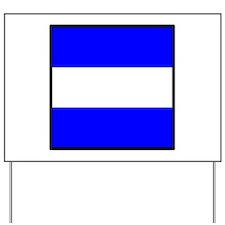 Nautical Flag Code Juliet Yard Sign