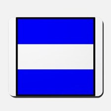 Nautical Flag Code Juliet Mousepad