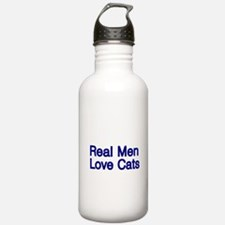 Real Men love Cats Water Bottle