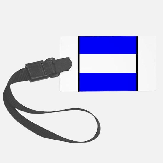 Nautical Flag Code Juliet Luggage Tag