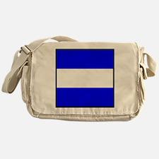 Nautical Flag Code Juliet Messenger Bag