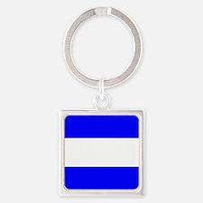 Nautical Flag Code Juliet Keychains