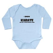 I KNOW KARATE Body Suit