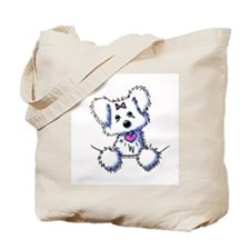 Pocket Maltese Tote Bag