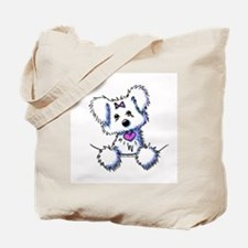 Pocket Maltese Tote Bag