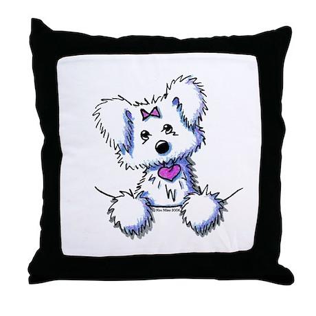 Pocket Maltese Throw Pillow