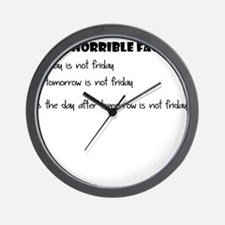 THE HORRIBLE FACTS Wall Clock