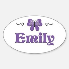 Purple Butterfly - Emily Oval Decal