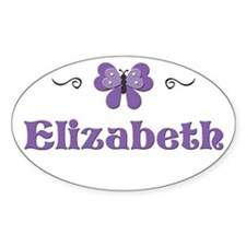 Purple Butterfly - Elizabeth Oval Decal